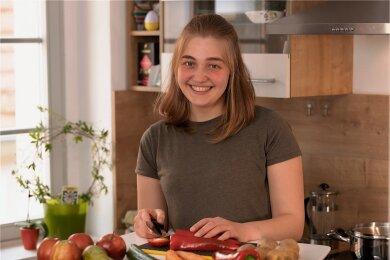 Bemüht sich nach überwundener Magersucht um einen gesunden Umgang mit dem Essen: Hannah Eisold aus Dohna.