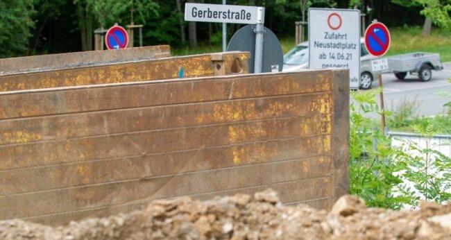 An der Gerberstraße baut zurzeit Wasserversorger Zwav. Danach sollten dort Caravan-Plätze entstehen. Das Projekt hängt in der Luft.