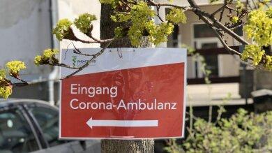 Die Corona-Ambulanz an der Paracelsus-Klinik in Zwickau. Die Öffnungszeiten der Ambulanz am HBK werden über Ostern verkürzt.
