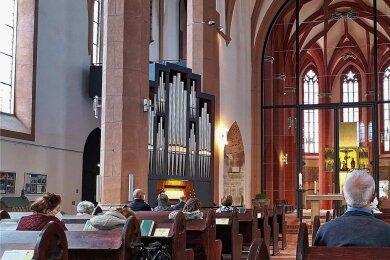 Strenge Abstands- und Maskenregeln galten auch beim verkürzten Familiengottesdienst in der St. Jakobikirche am Sonntag. Jeder Gottesdienstbesucher musste zudem seine Kontaktdaten hinterlassen.