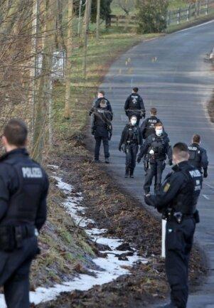 Die Polizei im Rümpfwald.
