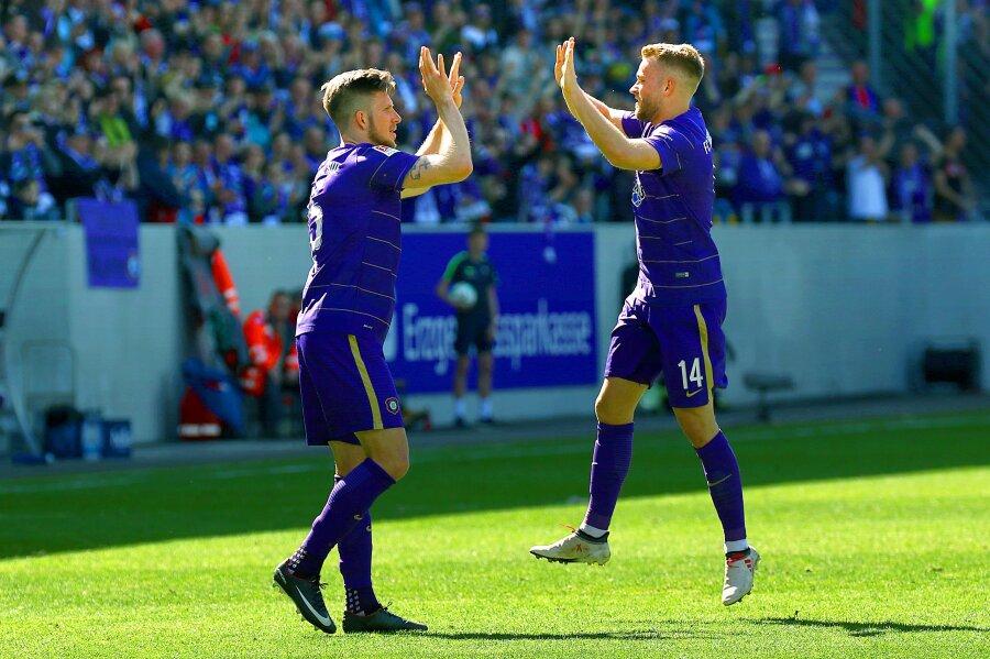 Der FC Erzgebirge Aue gewinnt am 29. Spieltag zuhause gegen den FC St. Pauli.