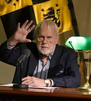 Der Entertainer Gunther Emmerlich hielt die Festrede auf Schloss Voigtsberg.