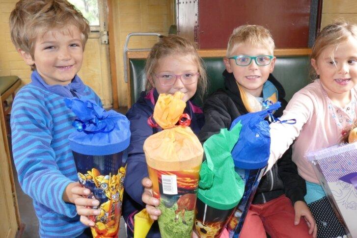 Mit der Zuckertüte in der Museumsbahn Schönheide unterwegs