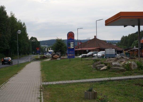 Die aktuelle Bebauung in Markhausen/Hranice.