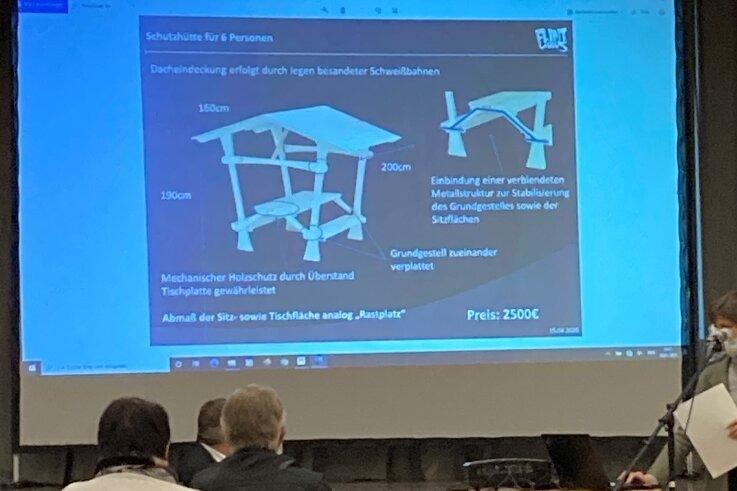 Der Kern-Wanderweg in der Region war Gegenstand der Debatte im Stadtrat von Oederan. Hier eine Ansicht der geplanten Rastplätze.