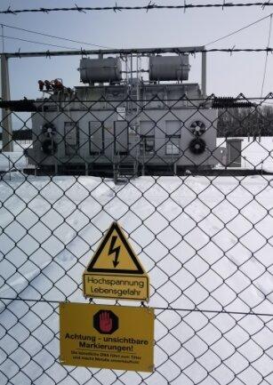 Das neue Umspannwerk: Nur einen Steinwurf entfernt schlägt das Herz der Stromversorgung im Vogtland.