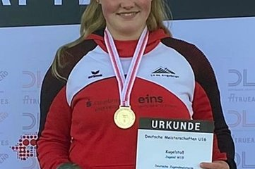 Gewann bei der U-16-DM Gold mit der Kugel: Lara Böhm.