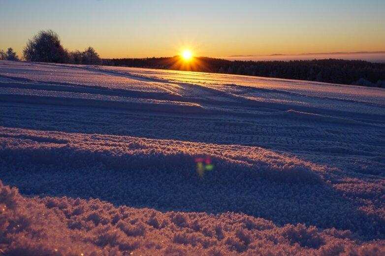 Eisige Nächte im Vogtland bieten Hobbyfotografen tolle Motive