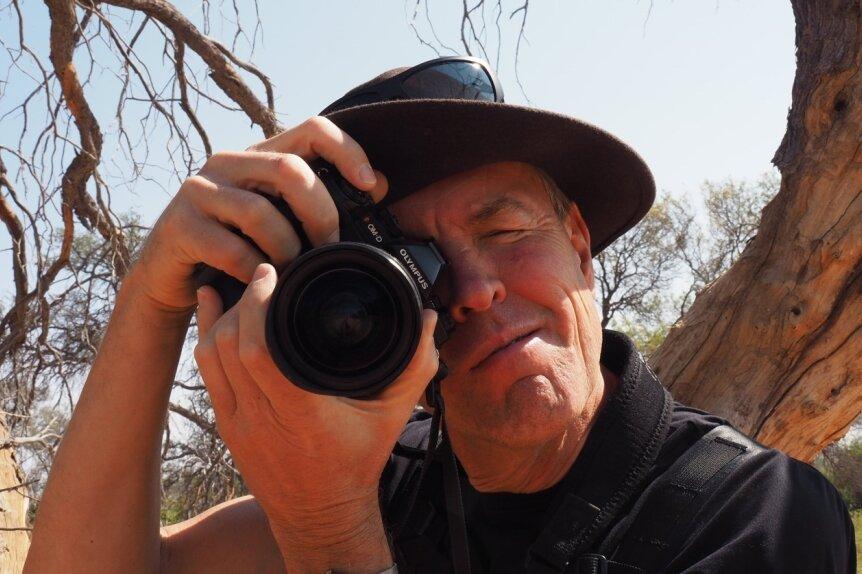 Der Freiberger Klimaforscher Professor Jörg Matschullat bei einer Expedition zur Gobabeb Forschungsstation Namibia.