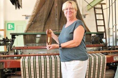 Andrea Weigel ist die Leiterin des Technischen Museums Historische Schauweberei Braunsdorf.