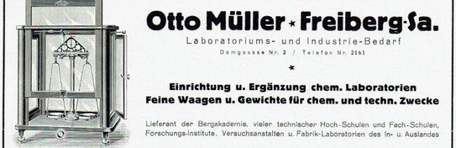 Mit dieser Anzeige machte Otto Müller 1926 auf sein Geschäft aufmerksam.