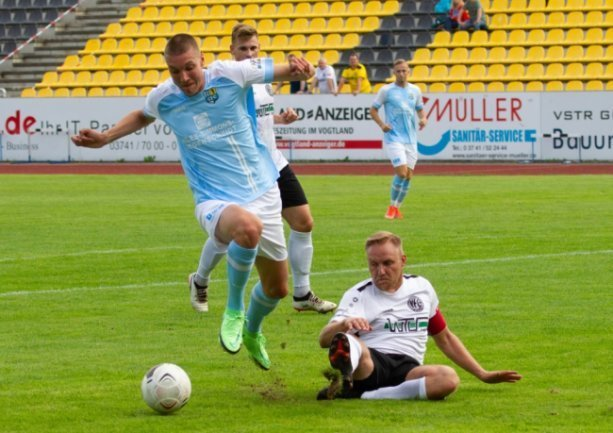 Simon Noah Roscher beim Spiel gegen den VFC Plauen.