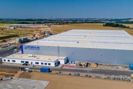 Der neue Standort von Rhenus Logistics im Gewerbegebiet zwischen Meerane und Crimmitschau wird heute eingeweiht.