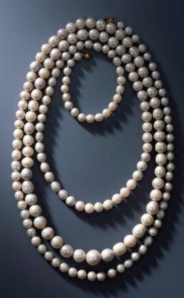 Vogtlandperlen schafften es Ende November 2019 ins Rampenlicht - beim spektakulären Einbruch ins Grüne Gewölbe in Dresden wurde diese Kette, ein Königinnenschmuck aus 177 Perlen zwar nicht geraubt, aber beschädigt. Die in der Kette verarbeiteten Perlen wurden vor dem Jahr 1734 aus vogtländischen Gewässer gewonnen und 1805 aufgereiht.