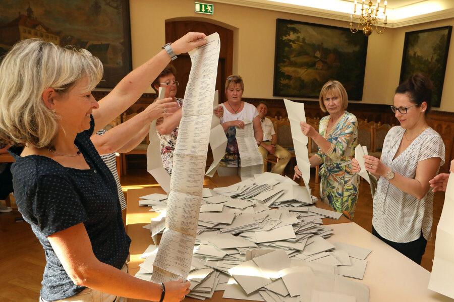 Erste Ergebnisse zur Kommunalwahl in Sachsen