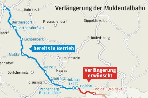 Neue Hoffnung für Bahnausbau im Erzgebirge nach Moldau