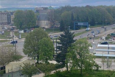 Nach Pfingsten beginnt der Neubau und die Umgestaltung der Kreuzung Bahnhofstraße/Zschopauer Straße am Chemnitzer Innenstadtring.