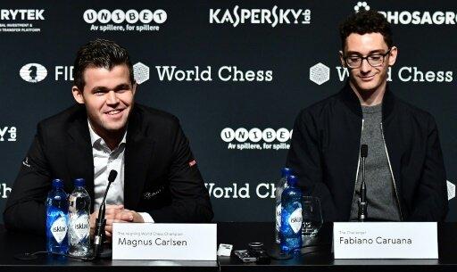 Noch immer kein Sieger zwischen Carlsen (l.) und Caruana