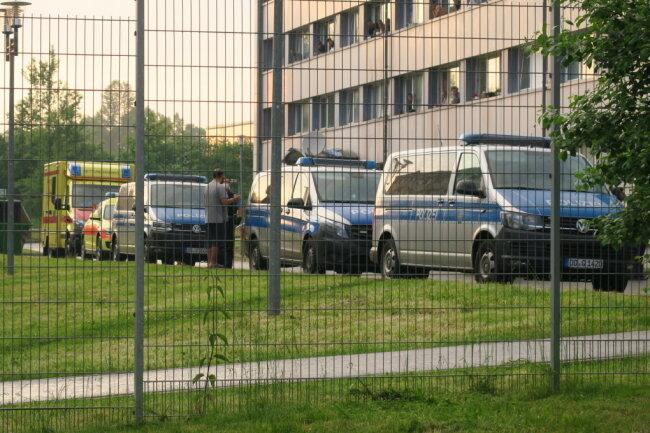 Mit zehn Streifenwagen waren die Beamten im Einsatz.