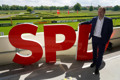 Holger Mann, Vorsitzender der SPD Leipzig, Spitzenkandidat der SPD Sachsen auf dem Landesparteitag seiner Partei in Leipzig