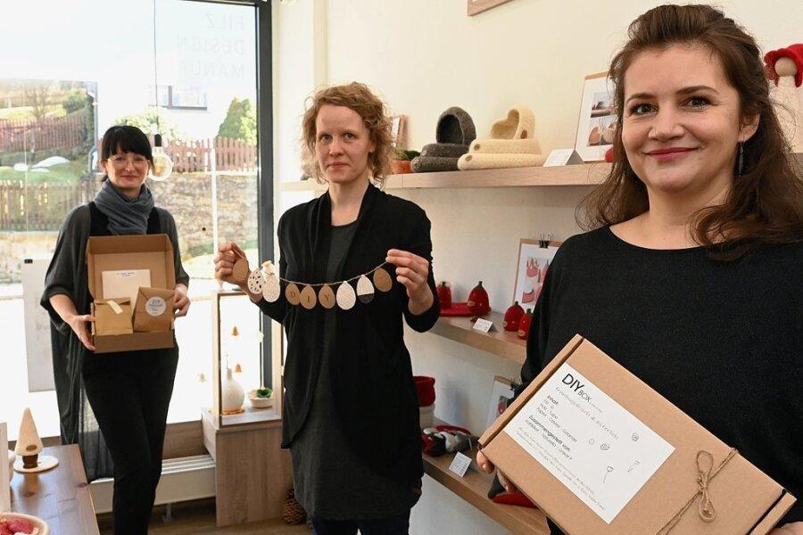 Schneeberger Händler gestalten Kreativbox zum Osterfest