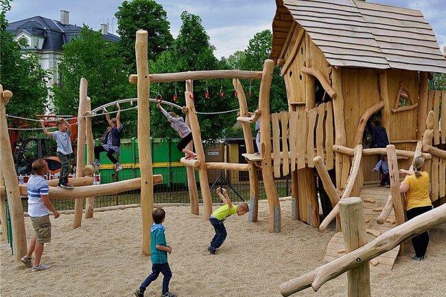Der neue schmucke Spielplatz vor dem Familienzentrum im Kirchberger Haus der Parität ist auch ein Ergebnis der Aktion.