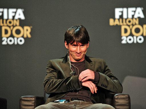 Der Argentinier Lionel Messi wurde zum Weltfußballer des Jahres 2010 gewählt