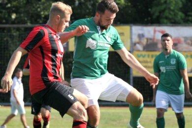 Der Lichtenberger Michel Drechsel traf am Sonntag gegen den Heidenauer SV doppelt. Mit einer starken Leistung erkämpfen sich die SVL-Kicker den ersten Saisonsieg.