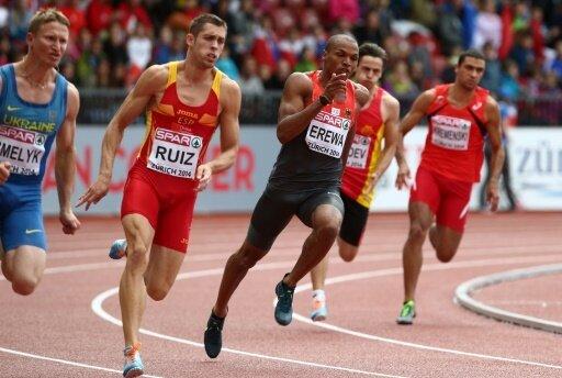 Die deutschen Sprinter um Erewa (m.) sind ausgeschieden