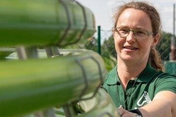 Stephanie Zwintzscher ist bei Agraset für die Schweinezucht verantwortlich.