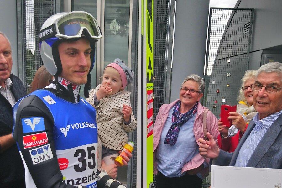 Gregor Schlierenzauer trainiert in Klingenthal