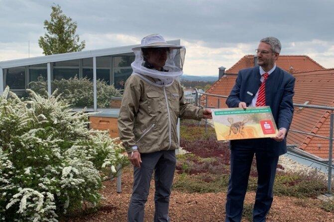 Sparkasse sammelt jetzt Honig