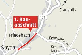 B 171 in Friedebach wird erneuert