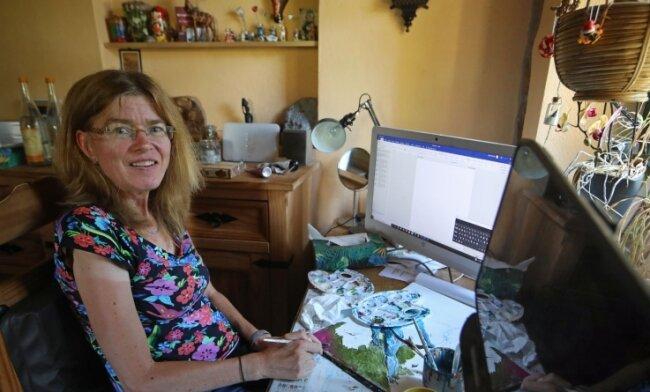 Ulrike Schmidt hat trotz einer fortschreitenden Krankheit ihre Begeisterung für Kreativität und die Kunst nicht verloren.