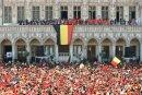Die Belgier konnten in Brüssel friedlich feiern