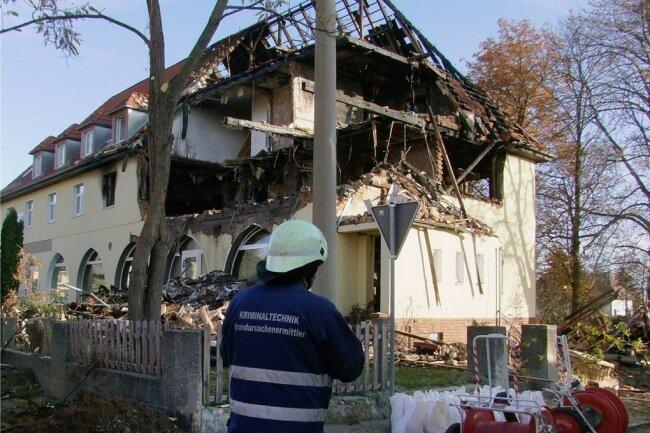 Das am 4. November 2011 mutmaßlich von Beate Zschäpe in die Luft gesprengte Haus in Zwickau.