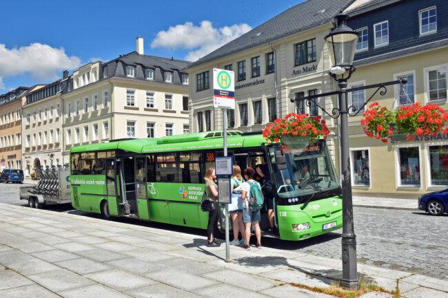 Die Buslinie startet in Marienberg.