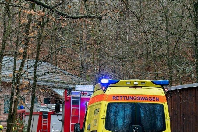 Ein knappes Dutzend Einsatzfahrzeuge zeugte am Montag vom Unglück im Gleisbergbruch.