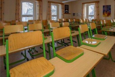 Nach wie vor bleiben die meisten Klassenzimmer leer - wie hier in der Oberschule Scheibenberg.