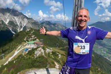 René Leßmüller ist überglücklich: Der Leichtathlet des FC Erzgebirge Aue hat in den Alpen ein erfolgreiches WM-Debüt gefeiert.