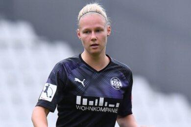 Annalena Breitenbach als Spielerin der SGS Essen in der Bundesligapartie gegen den VfL Wolfsburg (0:3) im Juni vergangenen Jahres.