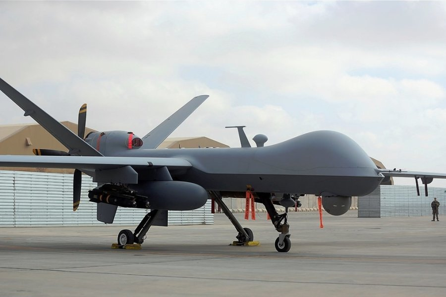 Der Widerstand der SPD gegen Drohnen schwindet. Auf dem Foto ist eine US-Drohne vom Typ MQ-9 zu sehen.