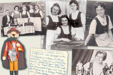 """Historische Bilder, eine Handschrift und der """"Rastelbinder"""" zeugen vom Schaffen der Erzgebirgssängerin und Mundartdichterin Marianne Hütel (1911 bis 1983) aus Zwickau."""