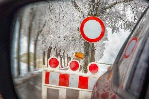 Schneebruch: Straßen in Mittelsachsen noch gesperrt