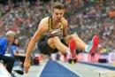 Fabian Heinle sprang mit 8,13 m zur Silbermedaille