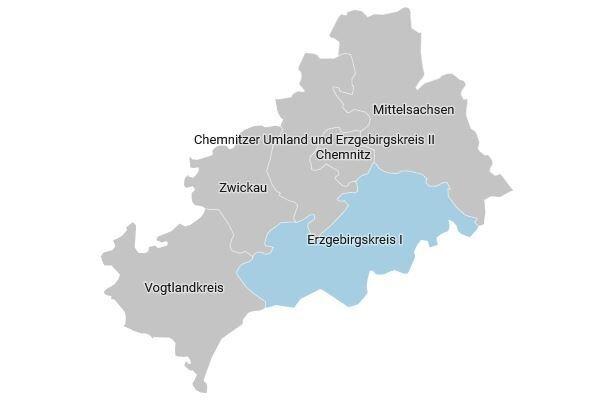 Der Wahlkreis 164 - Erzgebirgskreis I im Überblick