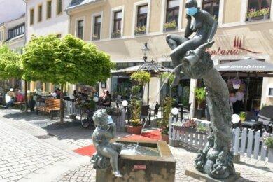 Der Fortuna-Brunnen an der Freiberger Petersstraße.