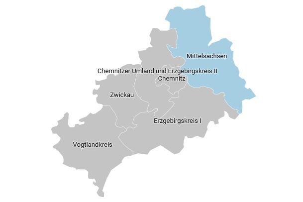 Der Wahlkreis 161 - Mittelsachsen im Überblick
