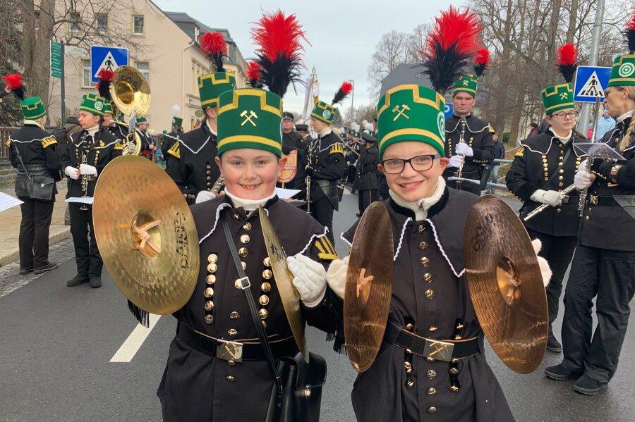 Auch junge Teilnehmer hatten ihren Spaß an der Bergparade Annaberg-Buchholz.